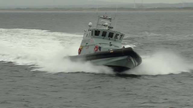 A UK border force boat on patrol