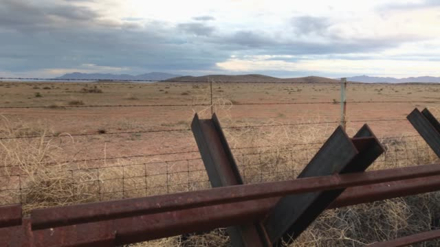 us border patrol agent's patrol the usmexico border fence on january 30 2019 in antelope wells new mexico since october dozens of large groups of... - united states border patrol stock videos & royalty-free footage