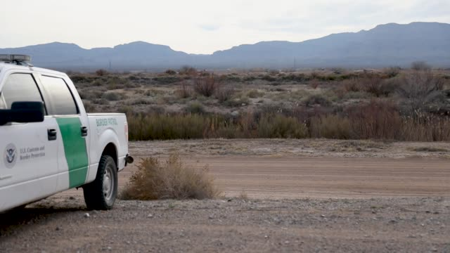 border patrol vehicle is seen parked along the rio grande river that marks the border between mexico and the united states on january 14, 2019 in... - government shutdown stock videos & royalty-free footage