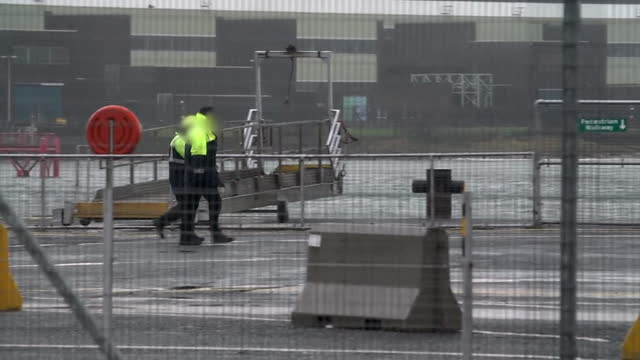 border staff at larne port, who were stood down over concerns for their safety due to building frustrations over the post brexit trade border with eu... - frustration stock videos & royalty-free footage