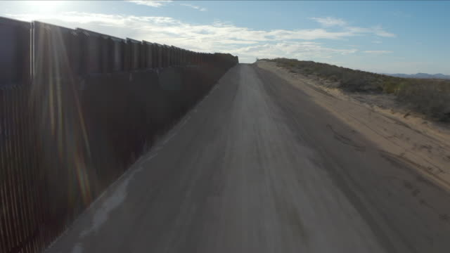 US Border Wall Aerial view