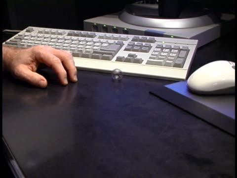 bored at work - human limb stock videos & royalty-free footage