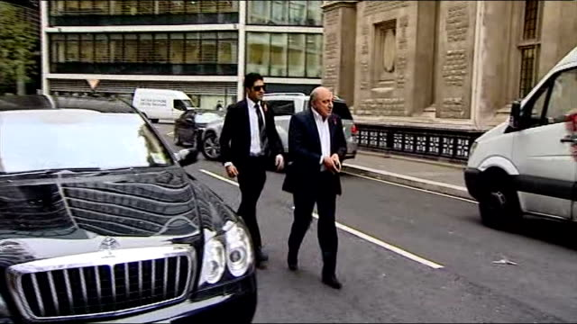 inquest told berezovsky was depressed lib england london royal courts of justice ext boris berezovsky arriving at court - 実業家 ボリス・ベレゾフスキー点の映像素材/bロール