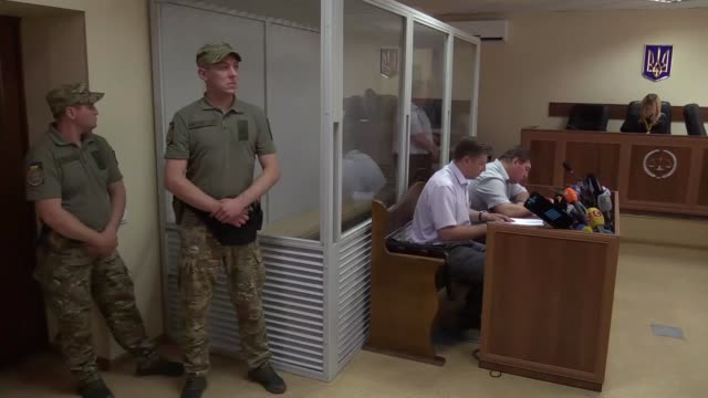 Boris German suspected of organizing an attempt on the murder of Russian journalist Arkady Babchenko seen during a court hearing on a preventive...