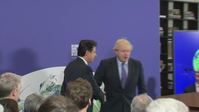 boris johnson accused of not understanding climate change; england: london: south kensington: science museum: int boris johnson mp shaking hands for... - handshake stock videos & royalty-free footage