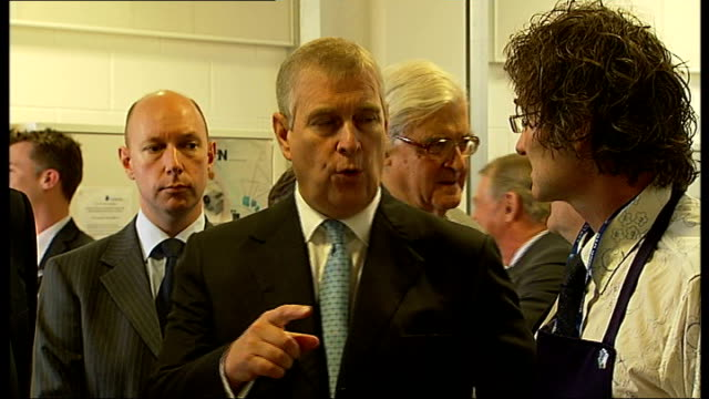 Boris Johnson and Duke of York open Greenwich technical college Various of Johnson and the Duke of York being shown around classrooms and workshops...
