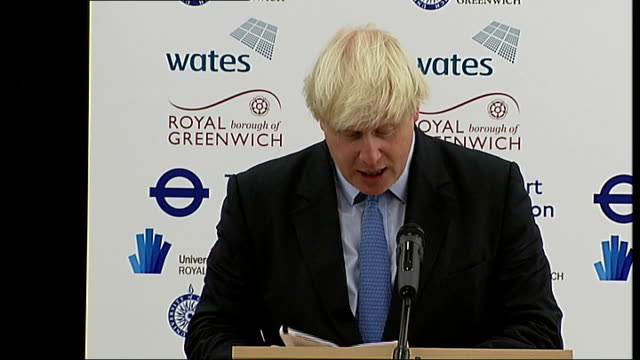 Boris Johnson and Duke of York open Greenwich technical college ENGLAND London Greenwich Greenwich University Technical College INT Boris Johnson to...