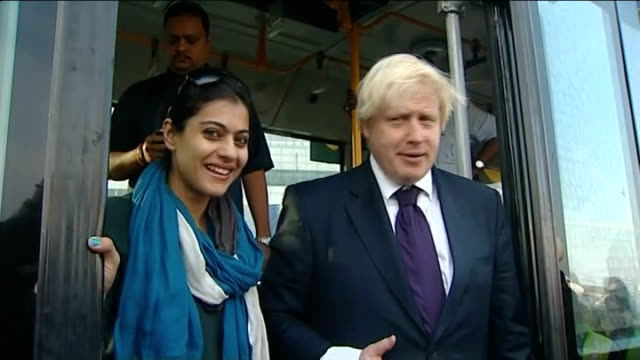 boris johnson angers google during trade visit india mumbai photography** boris johnson posing for photocall with members of england cricket team... - newly industrialized country stock videos and b-roll footage
