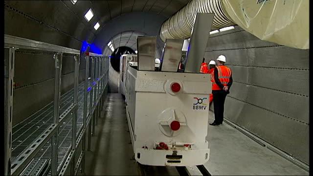 boris johnson announces travel discount for london apprentices; england: essex: ilford: crossrail tunneling academy: int various shots boris johnson... - ilford stock videos & royalty-free footage