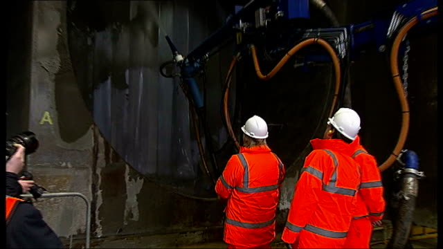 Boris Johnson announces travel discount for London apprentices ENGLAND Essex Ilford Crossrail Tunneling Academy INT Various shots Boris Johnson in...