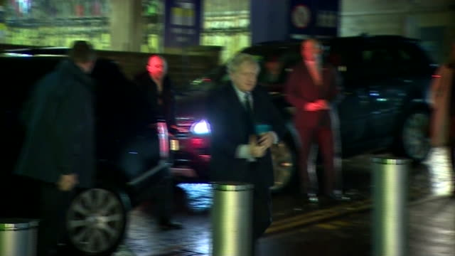 boris johnson arriving for the live question time leadership debate - general election stock videos & royalty-free footage