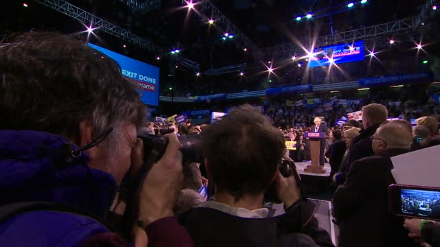 boris johnson at rally in london on the last day of campaigning before the general election - last day stock videos & royalty-free footage