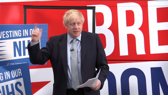 boris johnson calling the labour party's nationalised broadband plan a crazed communist scheme - general election stock videos & royalty-free footage