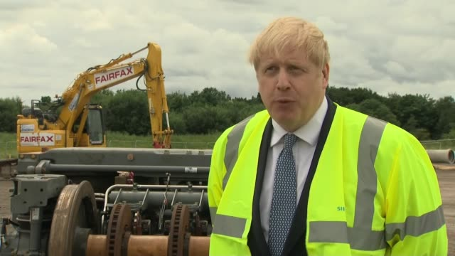 boris johnson calls for driverless trains as condition of future tfl bailout england east yorkshire goole ext boris johnson mp interview sot let's... - politics stock-videos und b-roll-filmmaterial