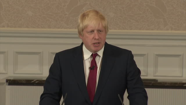 Boris Johnson confirming at the end of his speech that he will not be running for the Conservative party leadership