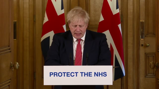 boris johnson confirming cafes restaurants pubs bars and other businesses will close due to the coronavirus crisis - candidate stock videos & royalty-free footage