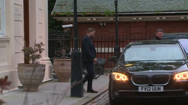 London Carlton Gardens EXT Boris Johnson MP into car ignoring questions and away