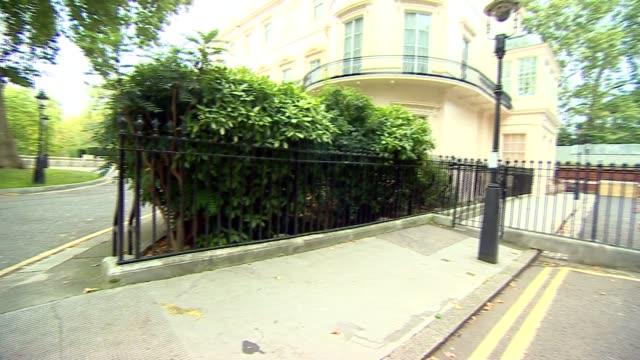 London Westminster Carlton Gardens Boris Johnson MP along jogging and through gate