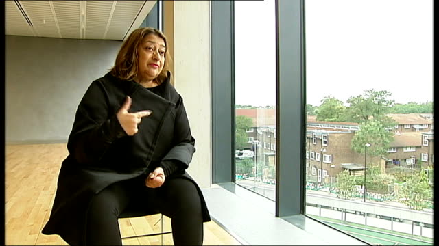 Boris Johnson hires Olympic architect to develop plans for new London hub airport LIB Brixton Evelyn Grace Academy Zaha Hadid conducting interview