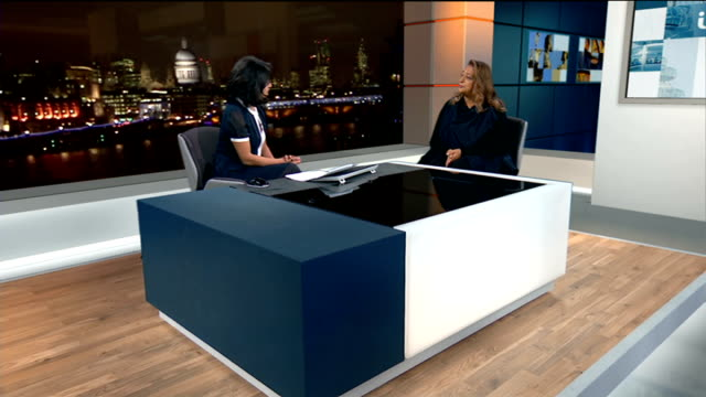 Boris Johnson hires Olympic architect to develop plans for new London hub airport ENGLAND London GIR INT Zaha Hadid LIVE STUDIO interview SOT talks...