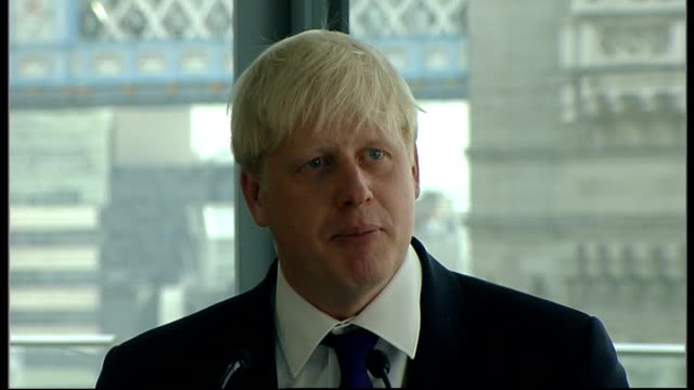 boris johnson holds first press conference as london mayor; boris johnson press conference sot - can i make a final plee that people stop ringing me... - conference phone stock videos & royalty-free footage