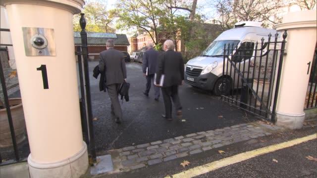 Boris Johnson hosts Yemen meeting ENGLAND London Carlton Gardens EXT Various arrivals along including Boris Johnson MP Adel alJubeir Yusuf bin Alawi...