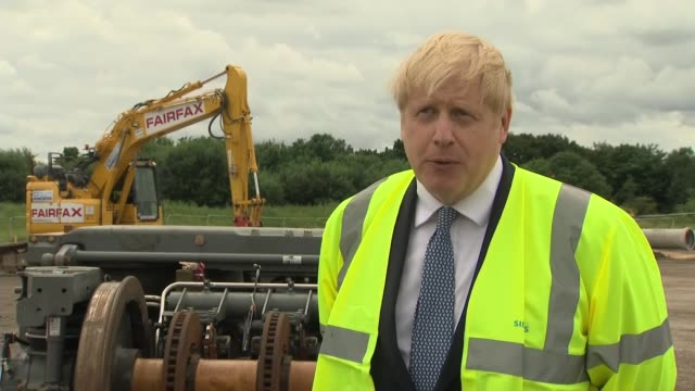 east yorkshire goole ext boris johnson mp interview sot re new piccadilly line driverless trains re furlough scheme and possibility of extension... - furlough stock videos & royalty-free footage