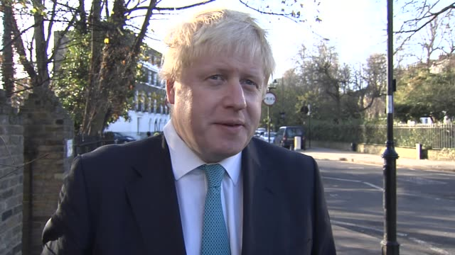london ext boris johnson interview sot donald trump is out of his mind and displays an ignorance that is truly alarming - boris johnson stock videos & royalty-free footage