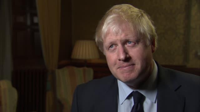 London INT Boris Johnson MP interview SOT re Zimbabwe and Robert Mugabe resignation