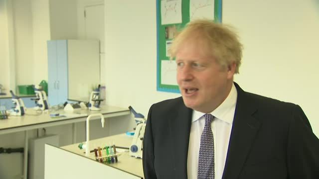 boris johnson interview; england: london: marylebone: int boris johnson mp interview sot q: aid cuts - 85% cuts on family planning aid programmes to... - home finances stock videos & royalty-free footage