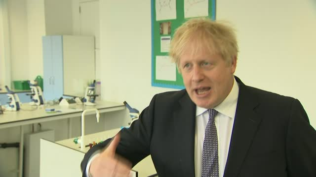boris johnson interview; england: london: marylebone: int boris johnson mp interview sot q: you have appointed lord geidt to look into what happened... - endurance stock videos & royalty-free footage