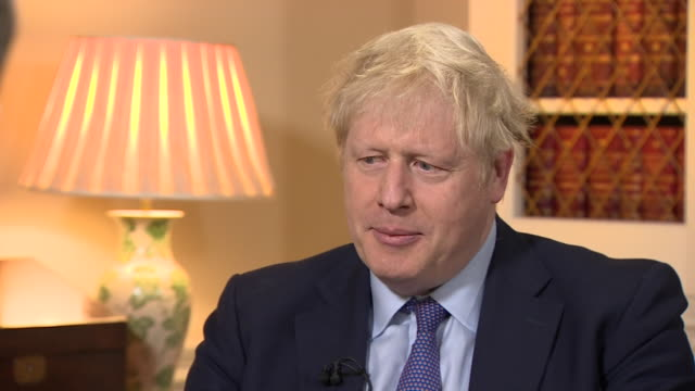 boris johnson intv no reason for uk to be notified about intended assassination of qasem soleimani - notifications stock videos & royalty-free footage