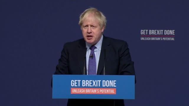 stockvideo's en b-roll-footage met boris johnson launches conservative party manifesto among the pledges made are 20000 police officers and 50000 extra nurses with the return of nurse... - manifest