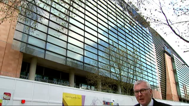 boris johnson launches medcity st pancras ext reporter to camera / francis crick institute building low angle view francis crick institute building... - francis crick stock videos & royalty-free footage