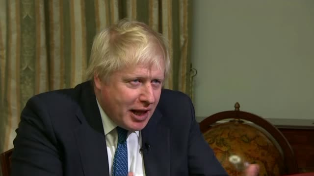 boris johnson meets sergey lavrov in moscow; boris johnson setup shots and interview sot - re russian interference in brexit referendum, don't talk... - russia stock videos & royalty-free footage