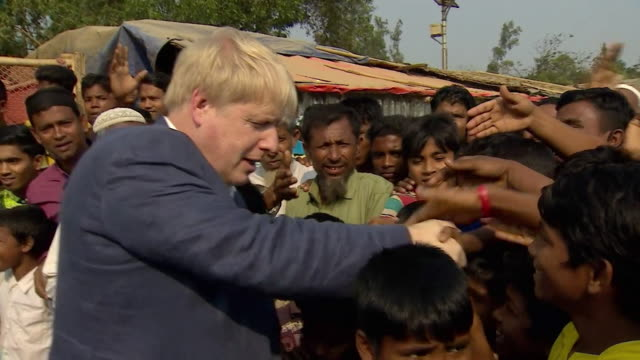 Boris Johnson MP meets Rohingya refugees in Bangladesh