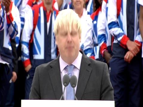 vidéos et rushes de boris johnson on legacy of london 2012 olympics - boris johnson