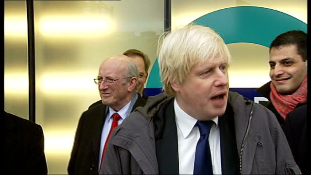 boris johnson opens dlr station at woolwich england london woolwich photography *** boris johnson speech sot i hereby declare this spanking new... - spanking stock videos and b-roll footage