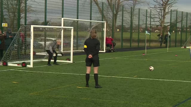 boris johnson playing football with children in stockport - football stock videos & royalty-free footage