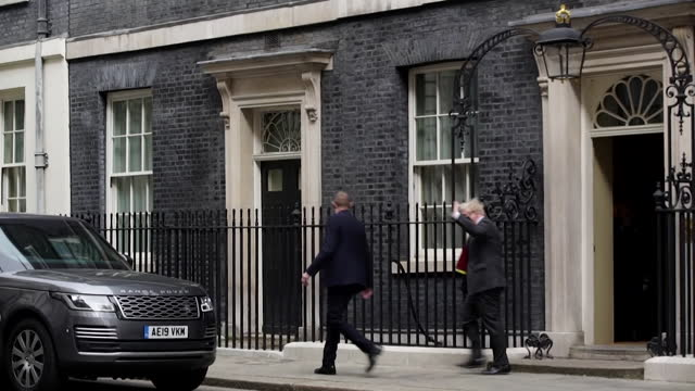 boris johnson pm, heads to houses of parliament for prime minister's questions as row over who paid for the refurbishment of his downing street flat... - conservative party uk stock videos & royalty-free footage