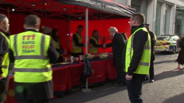 boris johnson priti patel and cressida dick visiting the site of the london bridge terror attack - home secretary stock videos & royalty-free footage