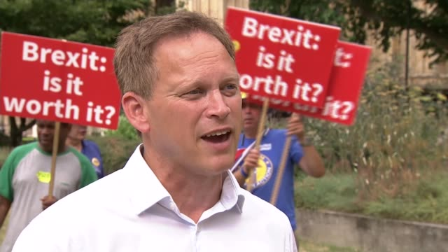 london westminster grant shapps interview sot - grant shapps stock videos and b-roll footage