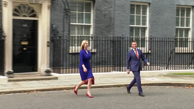 boris johnson reshuffles cabinet; england: london: westminster: downing street: ext liz truss mp along from number 10. - politics stock videos & royalty-free footage