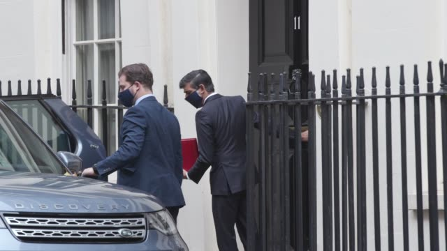 boris johnson, rishi sunak, michael gove, robert buckland and ben wallace leave the foreign and commonwealth office after a cabinet meeting. - ben wallace stock videos & royalty-free footage