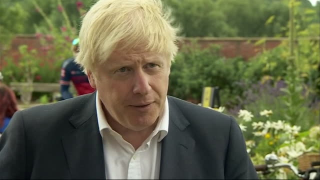 """boris johnson saying amongst some of our european friends we are seeing signs of a second coronavirus spike and we must make the necessary... - """"bbc news"""" video stock e b–roll"""