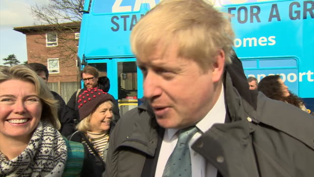 "boris johnson saying ""donnez-moi un break!"" and talking about calais border controls - conservative party uk stock videos & royalty-free footage"