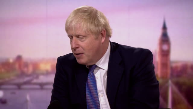 """boris johnson saying he believes president donald trump """"will be fine"""" after contracting coronavirus - crisis stock videos & royalty-free footage"""