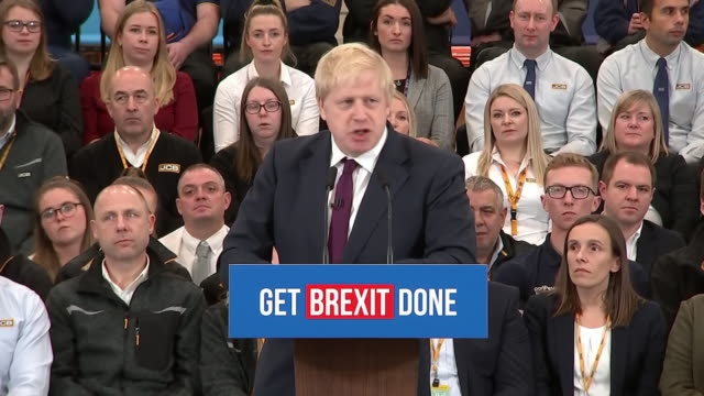 "stockvideo's en b-roll-footage met boris johnson saying he has ""never known a moment when the choice before us was so clear and so stark"" - brexit"