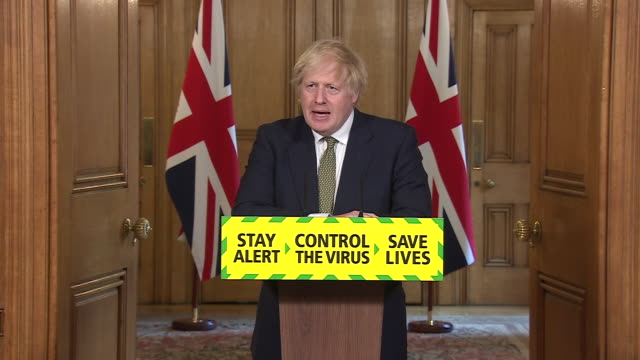 boris johnson saying he is content that dominic cummings behaved responsibly and correctly during coronavirus selfisolation in durham - obedience stock videos & royalty-free footage