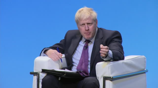 boris johnson saying his words on the october brexit deadline were that it was eminently feasible - candidate stock videos & royalty-free footage